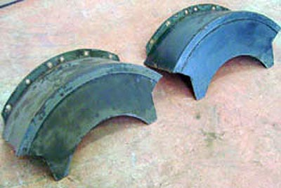 Unimog Front Disc Brake Mud Guards